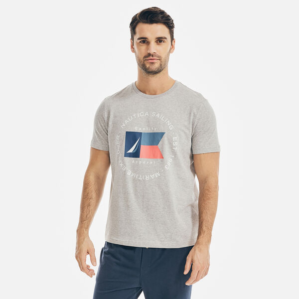 MARITIME EXPLORER LOGO GRAPHIC SLEEP T-SHIRT - Grey Heather