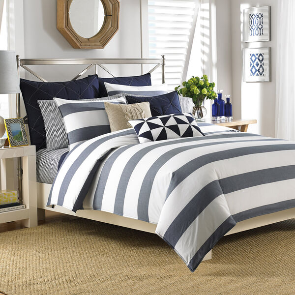Lawndale Navy Comforter Set - Navy