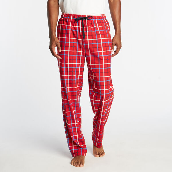 COZY FLEECE PLAID SLEEP PANT - Nautica Red