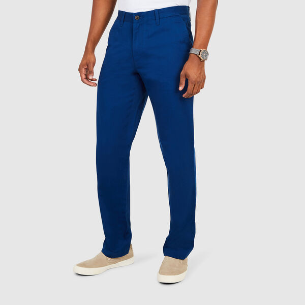 Flat Front Classic Fit Pants - Estate Blue