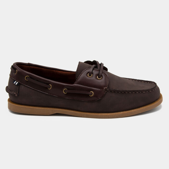 Nueltin 2 Boat Shoe in Brown,Boathouse Brown,large