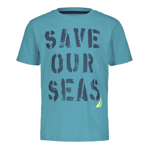 BOYS' SAVE OUR SEAS GRAPHIC T-SHIRT (8-20) - Dark Pine