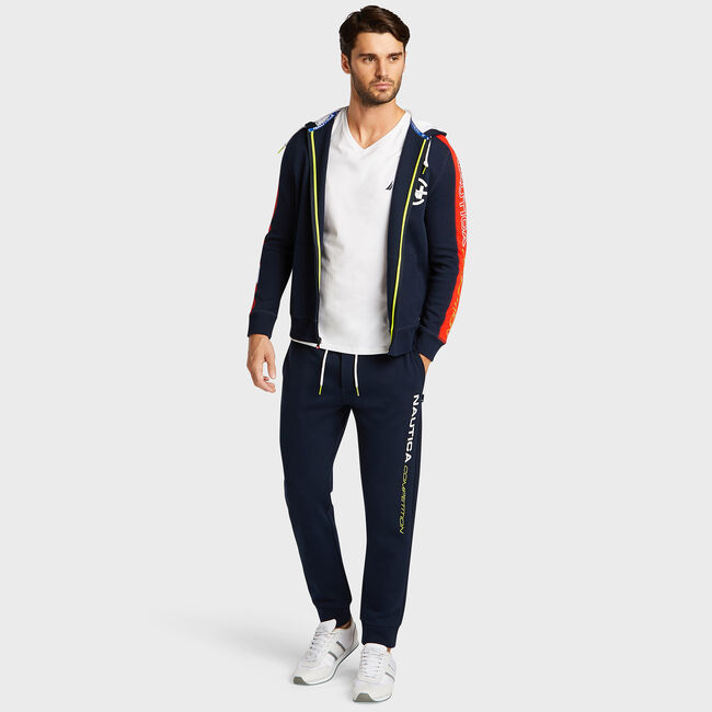 Competition Full Zip Hoodie,Navy,large