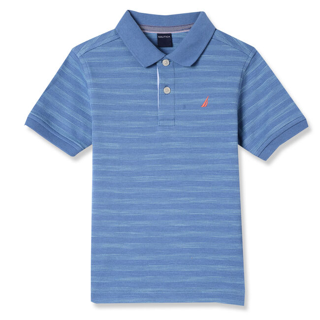 Little Boys' Johnnie Striped Polo (4-7),Blue Mirage,large
