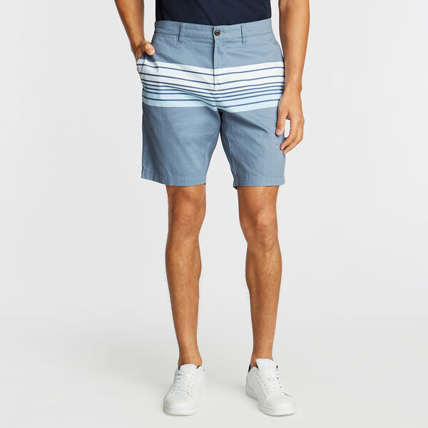 "8.5"" SLIM FIT SHORT IN VARIGATED STRIPE    - Sea Mist"