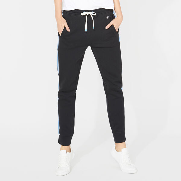 NAUTICA JEANS CO. SIDE STRIPED SWEATPANTS - True Black
