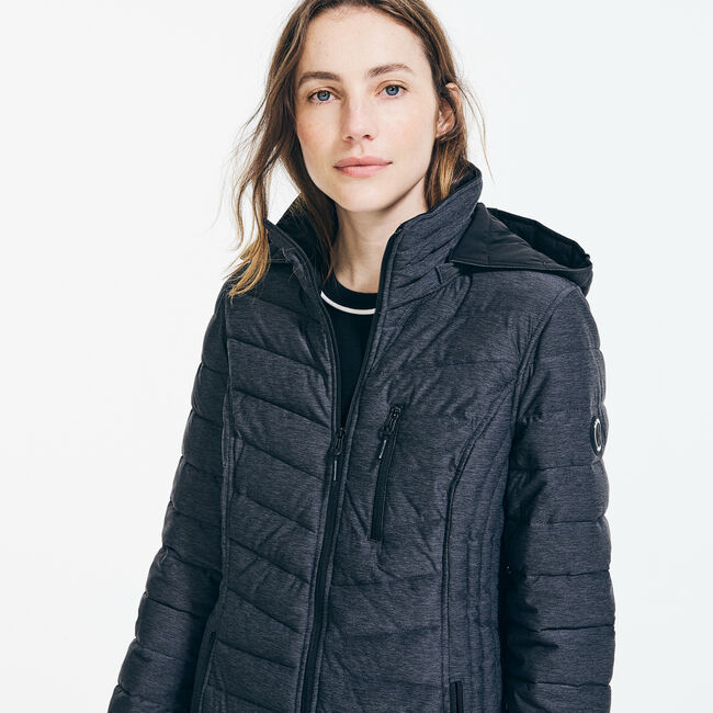 LIGHTWEIGHT QUILTED STRETCH COAT,Shipside Grey Heather,large