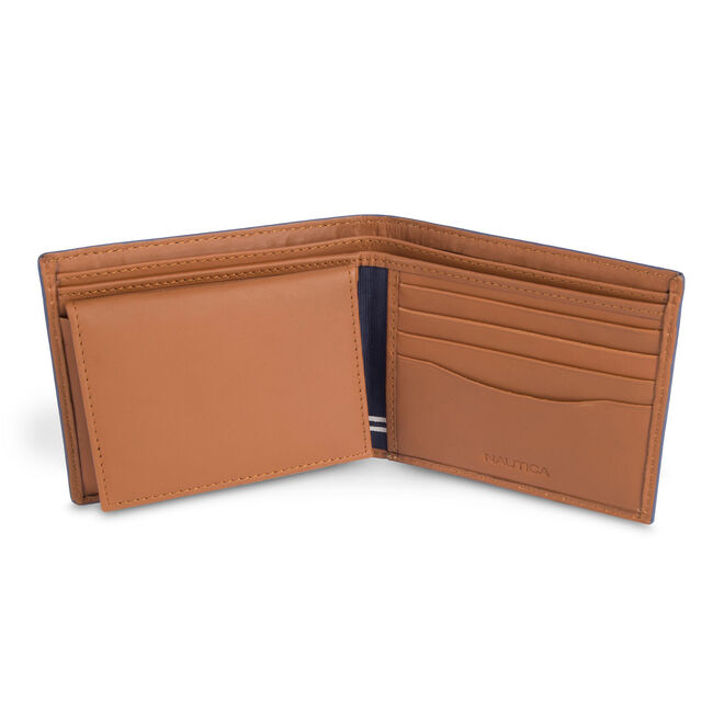 Portsmouth Removable Passcase Wallet,Peacoat,large