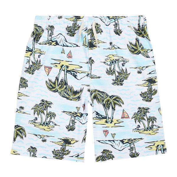 LITTLE BOYS' JASPER BEACH SCENE SHORT (4-7) - White