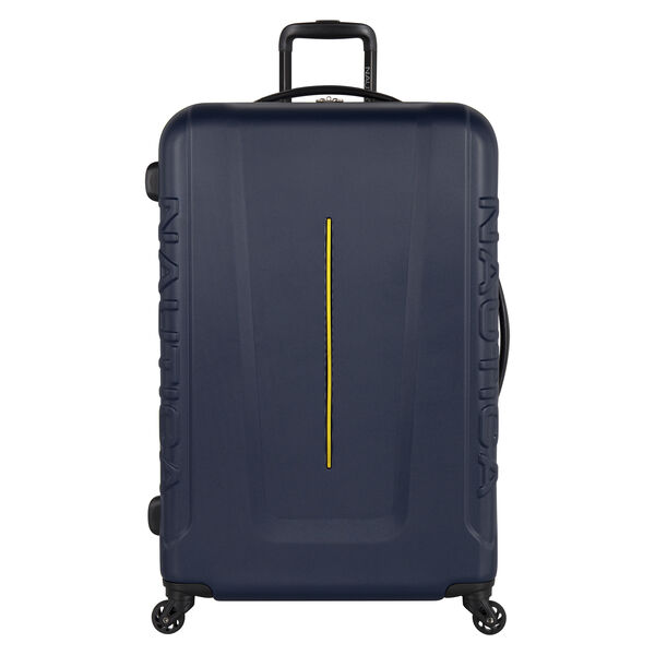 """Vernon Bay 28"""" Hardside Spinner Luggage in Navy/Yellow - Pure Dark Pacific Wash"""