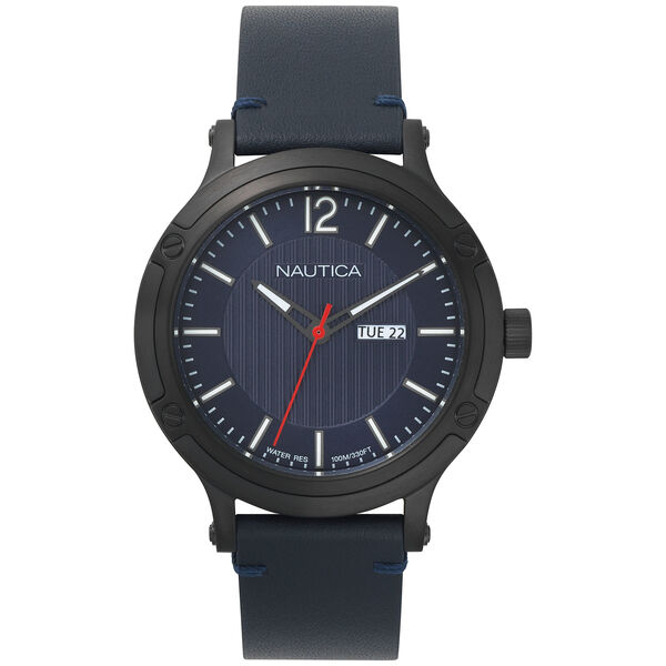 Porthole Slim 3-Hand Watch - Navy - Multi