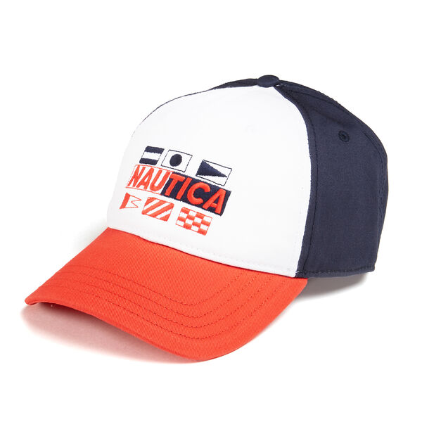 BASEBALL CAP IN SIGNAL FLAG - Pure Dark Pacific Wash