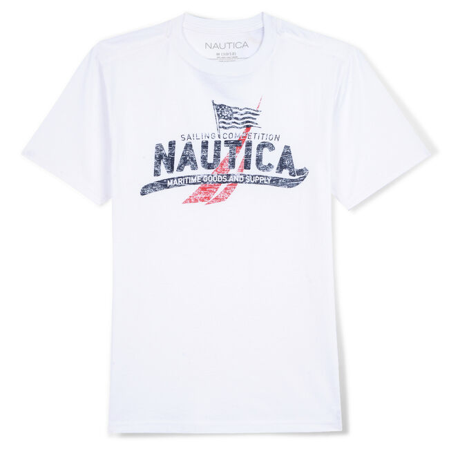 Boys' Hamilton Graphic T-Shirt (8-20),White,large