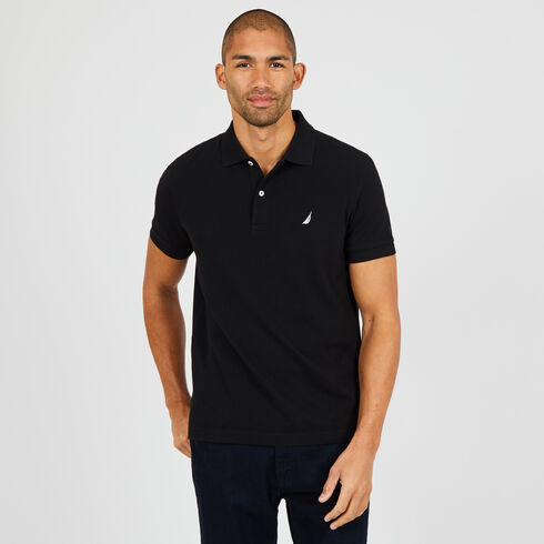 SLIM FIT PIQUÉ POLO - True Black