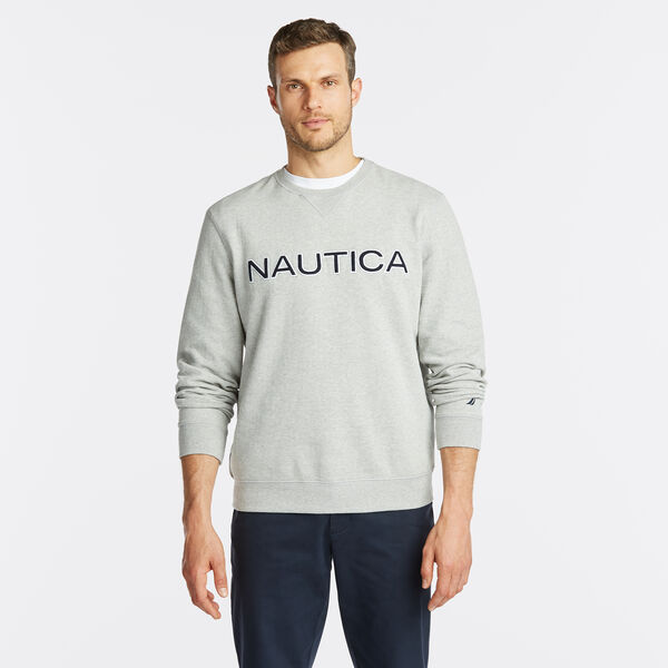 NAUTICA LOGO CREWNECK SWEATSHIRT - Grey Heather