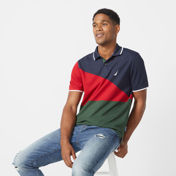 CLASSIC FIT COLORBLOCK POLO - Pure Dark Pacific Wash