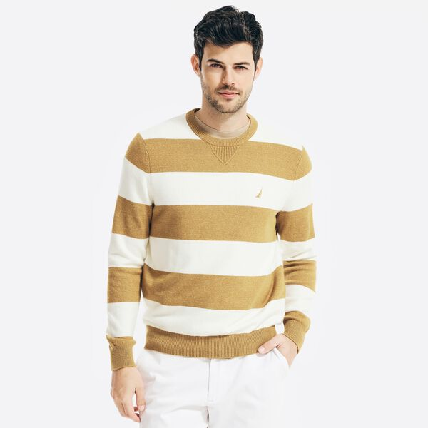 SUSTAINABLY CRAFTED STRIPED SWEATER - ALL SPICE