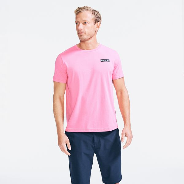 SUSTAINABLY CRAFTED FLAG GRAPHIC T-SHIRT - Carnation Pink