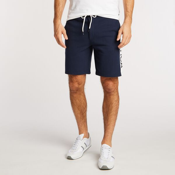 "Big & Tall Side Panel Logo Shorts - 9"" Inseam - Navy"