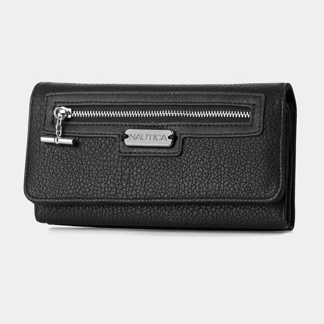 ABOVE BOARD BOXED CONTINENTAL WALLET,True Black,large