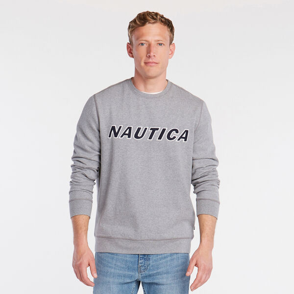 NAUTICA LOGO CREWNECK SWEATSHIRT - Stone Grey Heather