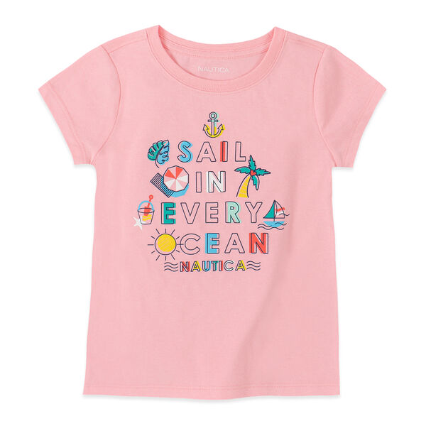 LITTLE GIRLS' SAIL GRAPHIC TEE (4-7) - Zinfandel