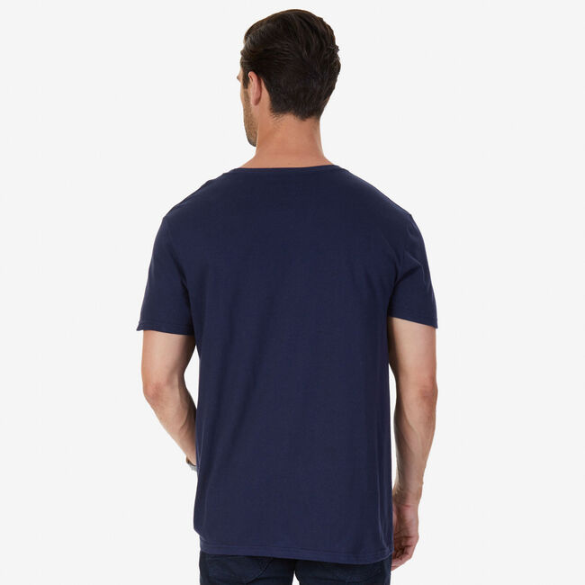 Big & Tall Signature Graphic T-Shirt,Navy,large