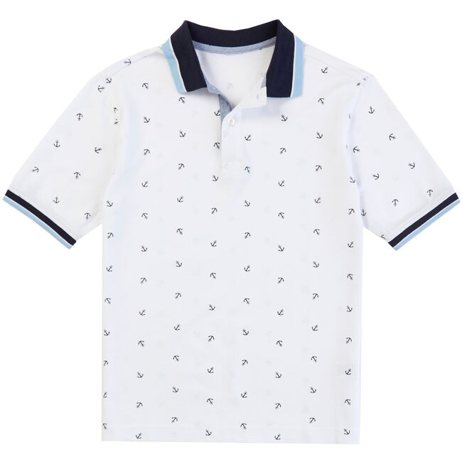 f403d5247 Little Boys  Anchor Print Polo Shirt (2T-7)