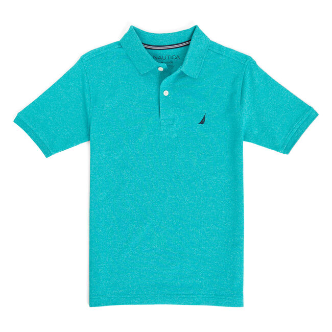 Boys' Seacoast Marled Pique Polo (8-20),Schooner Green,large