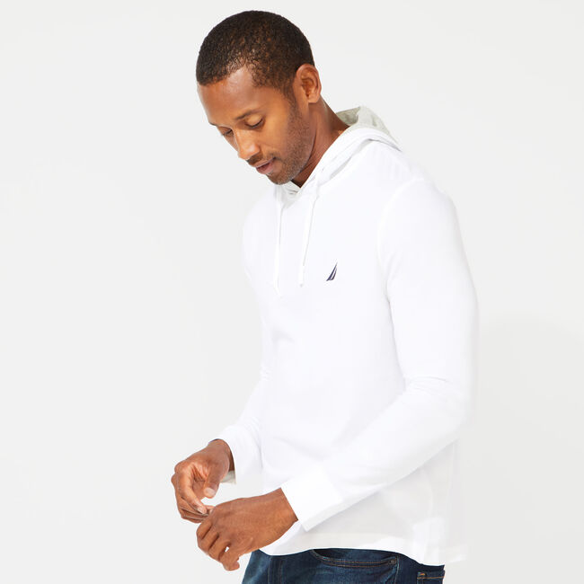 CLASSIC JERSEY HOODIE,Bright White,large