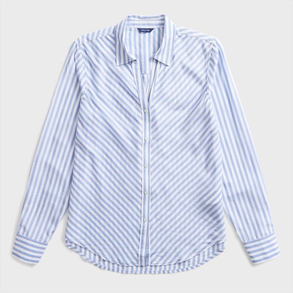STRIPE WOVEN SHIRT - Smokey Indigo Wash
