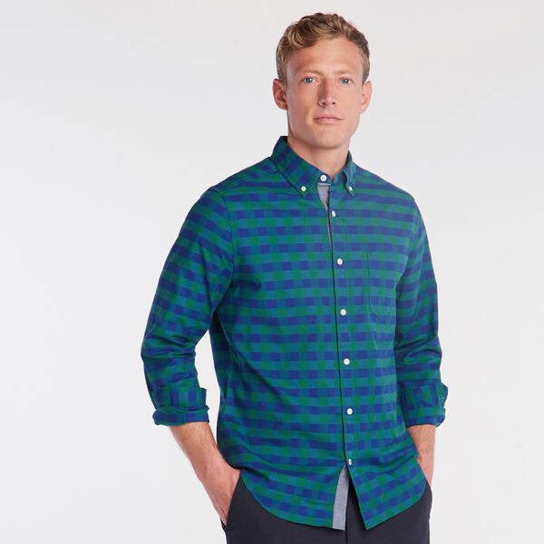 CLASSIC FIT OXFORD SHIRT IN LARGE GINGHAM - Spruce