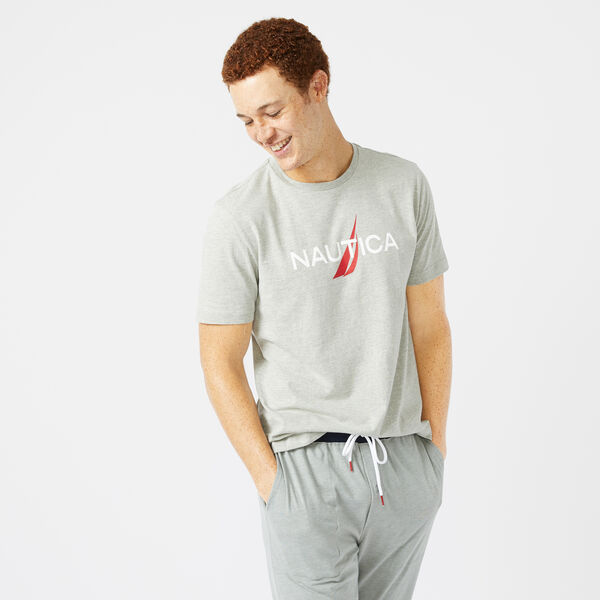 LOGO GRAPHIC SLEEP T-SHIRT - Grey Heather