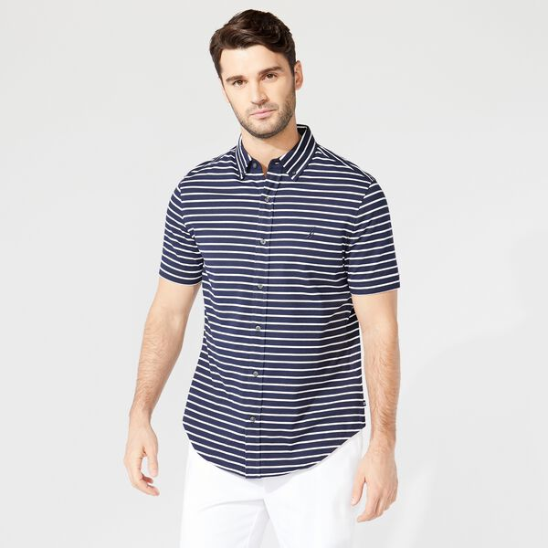 HARBOR SHIRT IN STRIPE KNIT COTTON - Navy