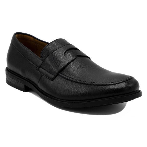 Elias Loafer in Tumbled Black - Black Onyx