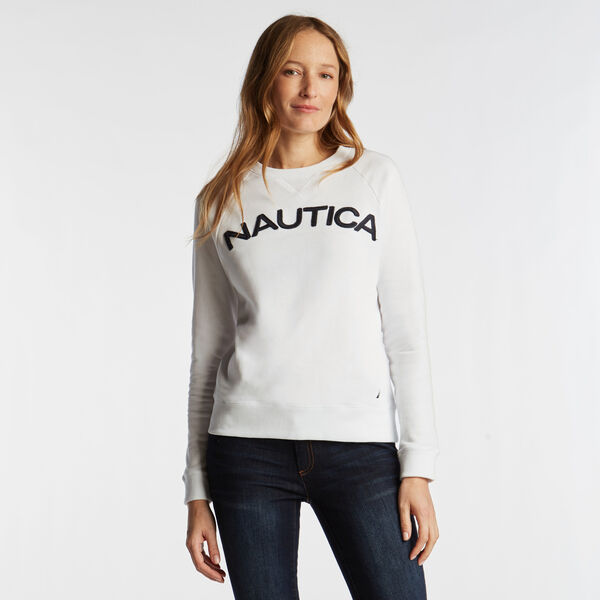 Logo French Terry Pullover - Bright White