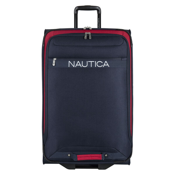 """Hayes Point 28"""" Expandable Luggage in Navy/Red - Pure Dark Pacific Wash"""