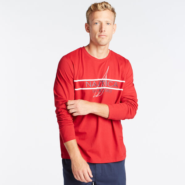 CLASSIC FIT LONG SLEEVE SINCE 1983 GRAPHIC SLEEP SHIRT - Nautica Red