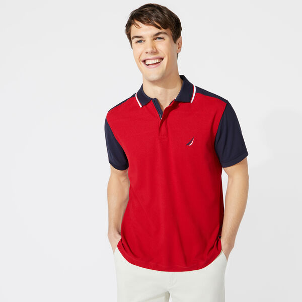 CLASSIC FIT COLORBLOCK TIPPED POLO - Nautica Red