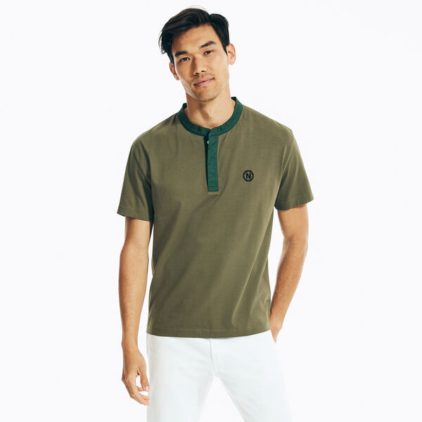 NAUTICA JEANS CO. SOLID HENLEY - Hillside Olive