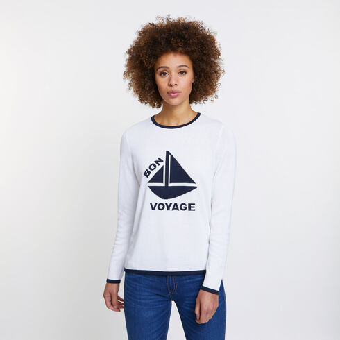 BON VOYAGE SWEATER - Bright White