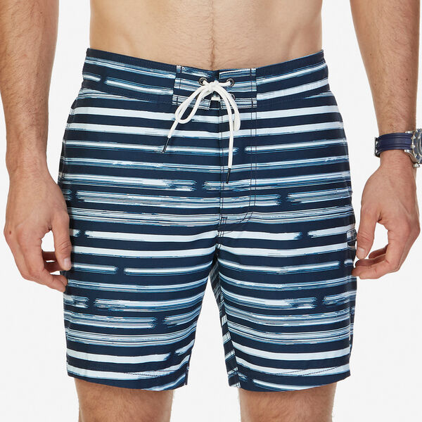 Big & Tall Quick-Dry Striped Swim Trunks - True Navy