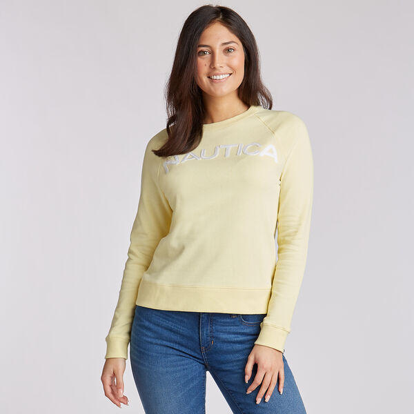 Logo French Terry Pullover - Light Mimosa