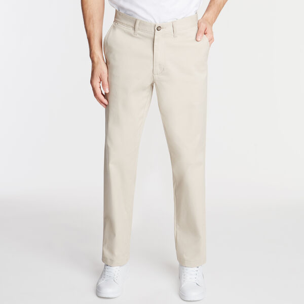 CLASSIC FIT FLAT FRONT PANTS - True Stone