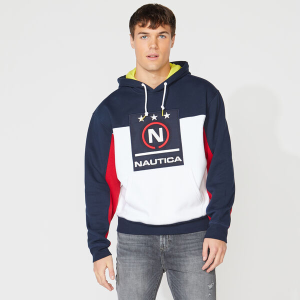 COMPETITION COLORBLOCK GRAPHIC HOODIE - Navy