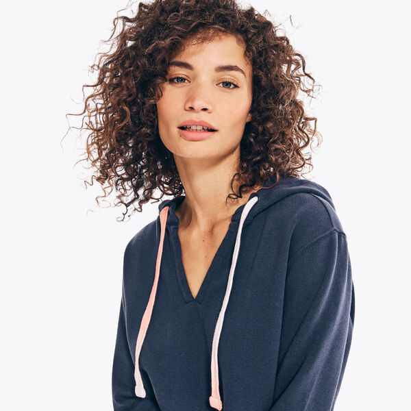 SUSTAINABLY CRAFTED PULLOVER HOODIE - Stellar Blue Heather