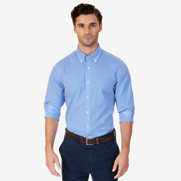 Long Sleeve Gingham Classic Fit Shirt - Hawaiian Ocean