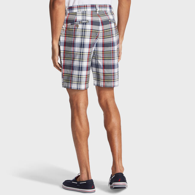 "8.5"" Plaid Deck Short,Hillside Olive,large"
