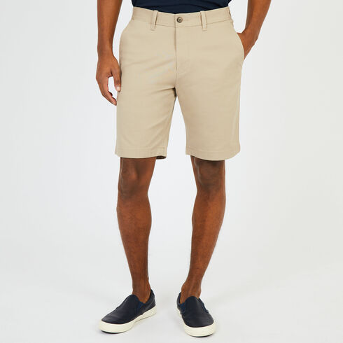 "Solid Stretch Slim Fit Shorts - 9.5"" Inseam - True Khaki"