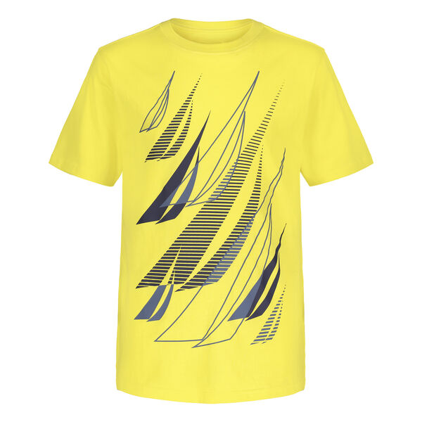BOYS' MULTPLE J-CLASS GRAPHIC T-SHIRT (8-20) - Cabana Yellow